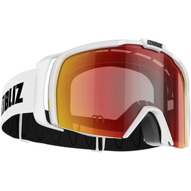 Bliz Nova Lunettes de protection, matt white/brown-red multi